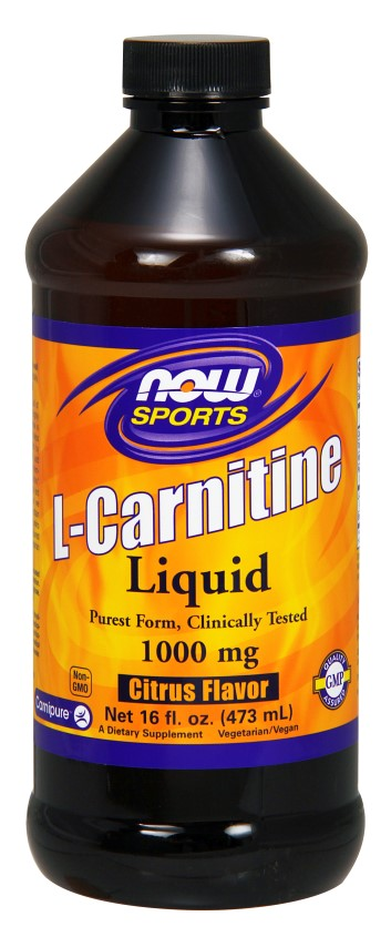 L-Carnitine Liquid 1000 mg 16 oz NOW (473 ml)