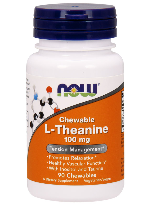 L-Theanine 100 mg NOW (90 Veg Capsules)