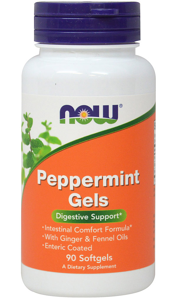 Peppermint Gels NOW (90 гелевых капсул)