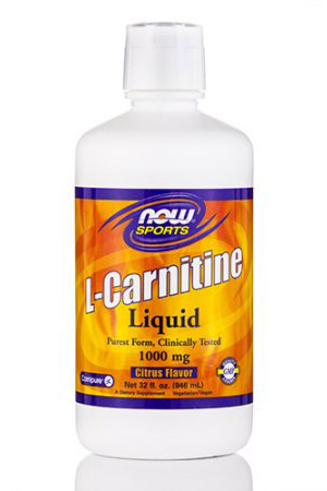 L-Carnitine Liquid 1000 mg 32 oz NOW (946 мл)(годен до 12/2017)