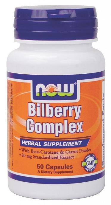 Bilberry Complex 80 mg NOW (50 Capsules)