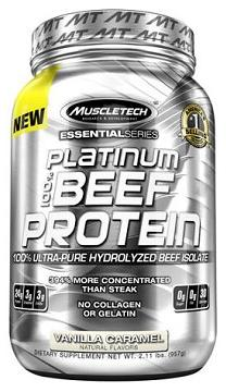 100% Platinum Beef Protein Muscle Tech (907-912гр)(до 15/08/2017