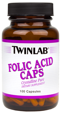 Folic Acid Caps Twinlab (100 кап)(годен до 11/2016)