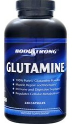 Glutamine 1000 mg BodyStrong (240 кап)