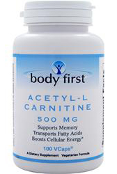 Acetyl-L Carnitine 500 mg Body First (100 вег кап)