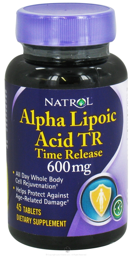 Alpha Lipoic Acid 600 mg Time Release Natrol (45 кап)