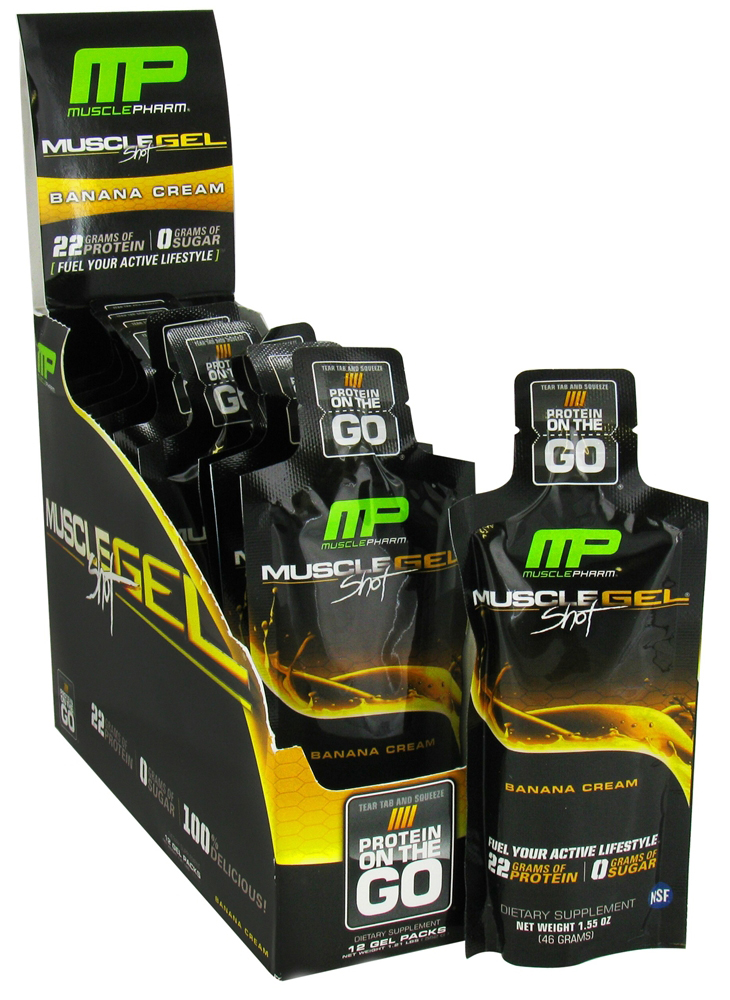 MuscleGel Shot MusclePharm (12 шт по 46 гр)