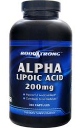 Alpha Lipoic Acid 200 mg BodyStrong (360 кап)