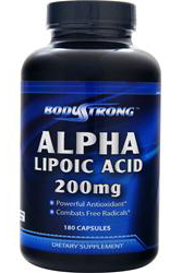 Alpha Lipoic Acid 200 mg BodyStrong (180 кап)