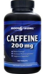 Caffeine 200 mg Body Strong (180 таб)