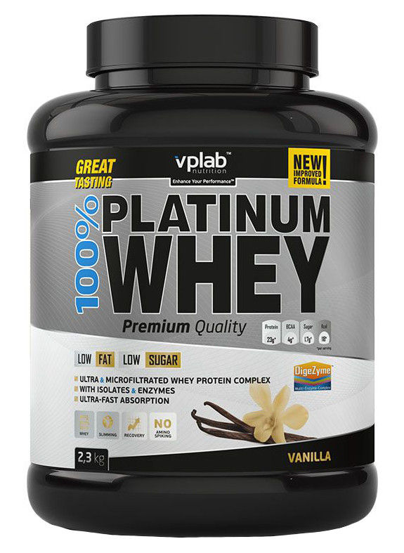 100% Platinum Whey VPLab Nutrition (2300 гр)