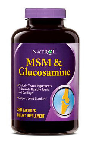 MSM and Glucosamine Natrol (360 кап)