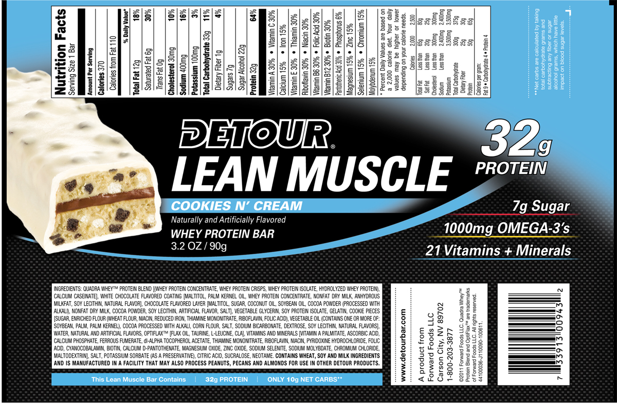 Detour lean muscle protein bars