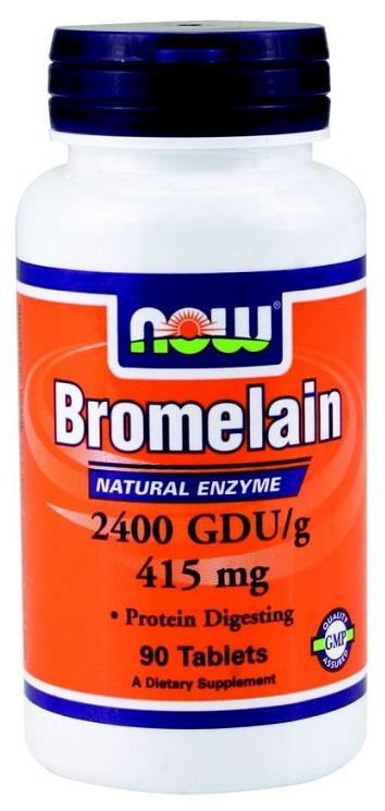 Bromelain 415 mg NOW (90 таб)