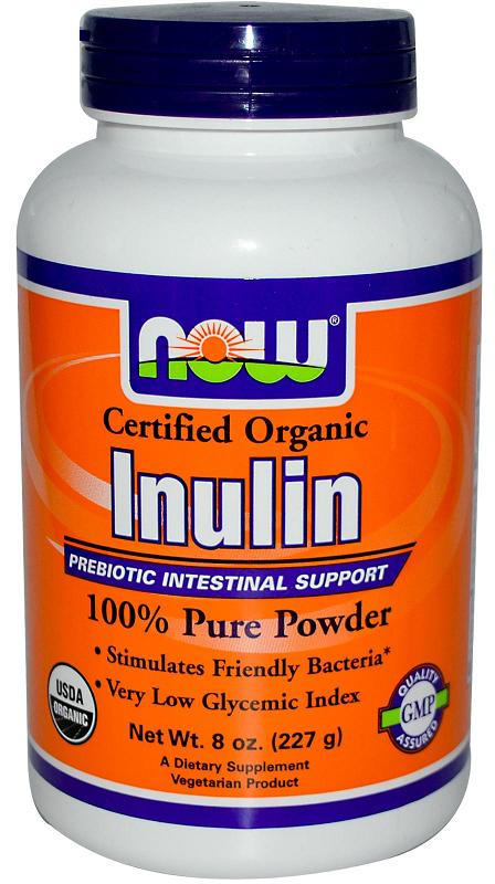Inulin (Certified Organic) NOW (227 гр)
