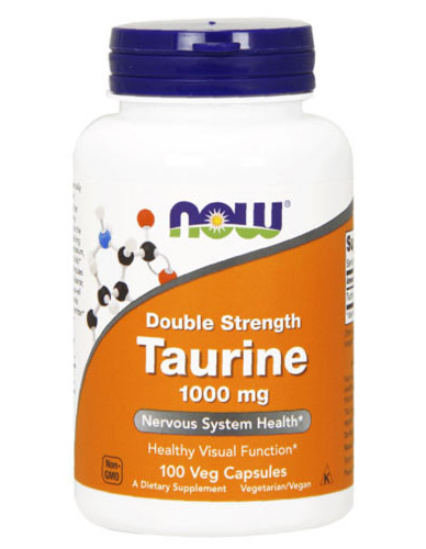 Taurine 1000 mg Double Strength NOW (100 кап)