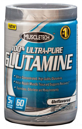 100% Ultra-Pure Glutamine Muscle Tech (300 гр)