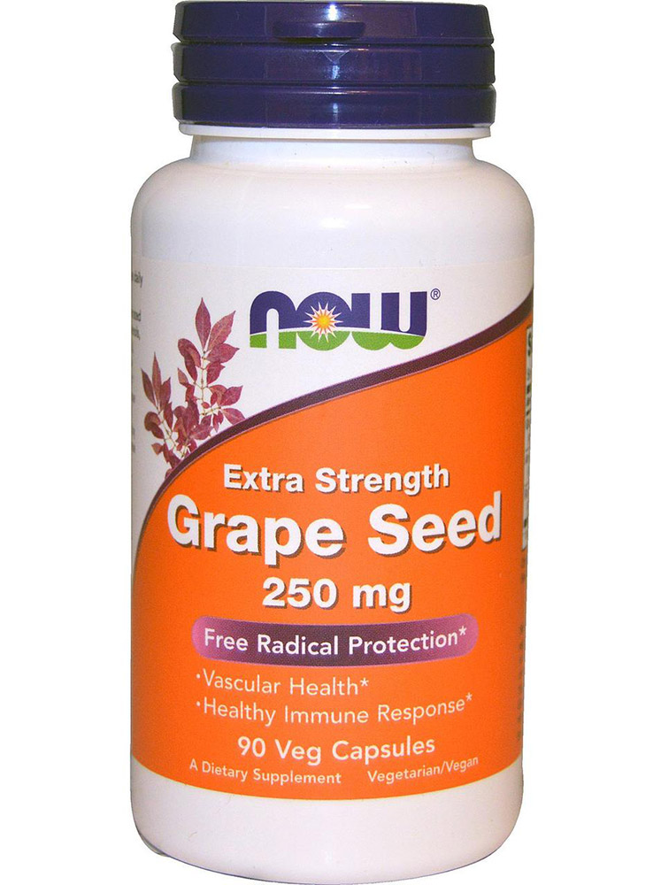 Grape Seed 250 mg NOW (90 Vcaps)