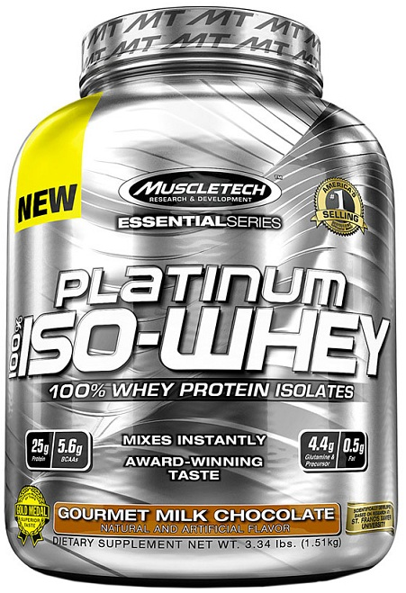 100% Platinum Iso-Whey Muscle Tech (1470-1510 гр)