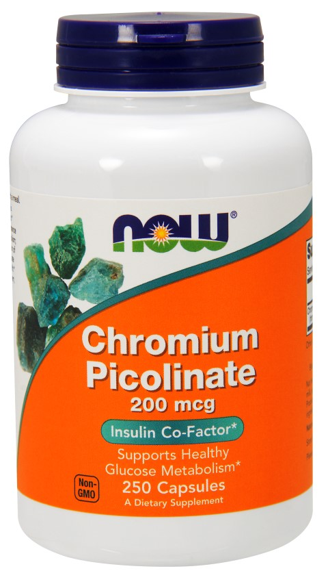 Chromium Picolinate 200 mcg NOW (250 cap)