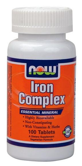Iron Complex Vegetarian NOW (100 tab)