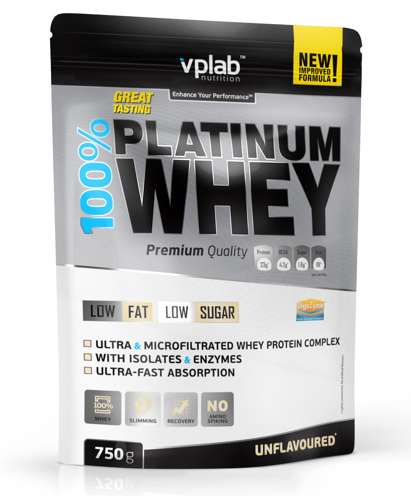 100% Platinum Whey VPLab Nutrition (750 гр)(годен до 01/2020)