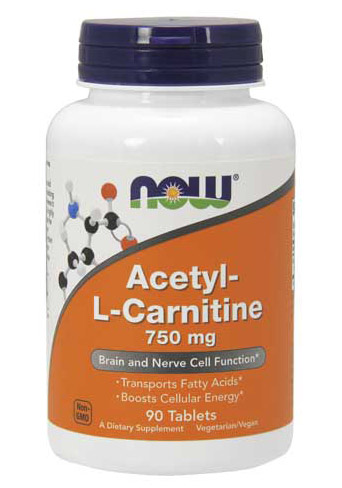 Acetyl-L-Carnitine 750 mg NOW (90 tab)