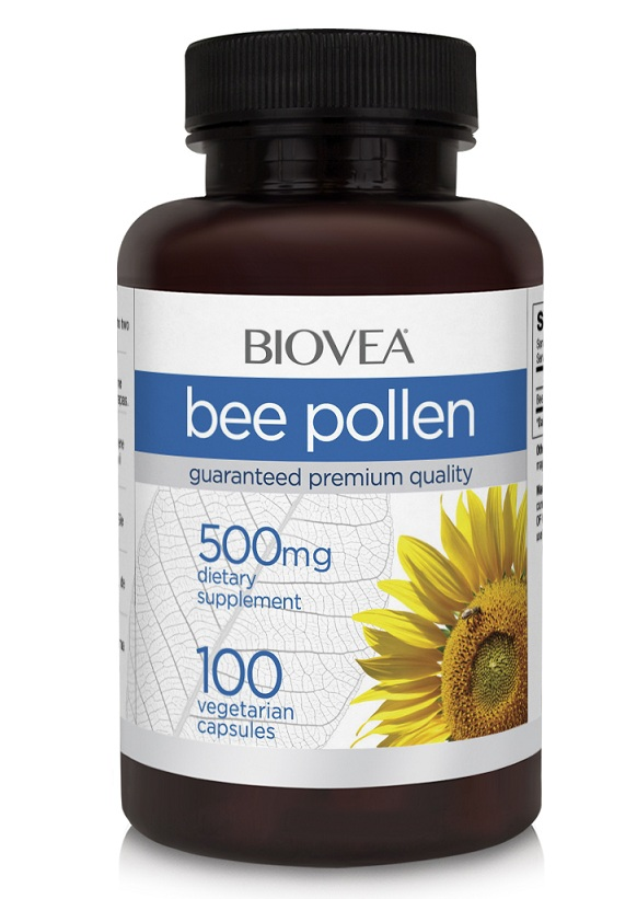 Bee Pollen 500 mg Biovea (100 кап)(годен до 01/2019)