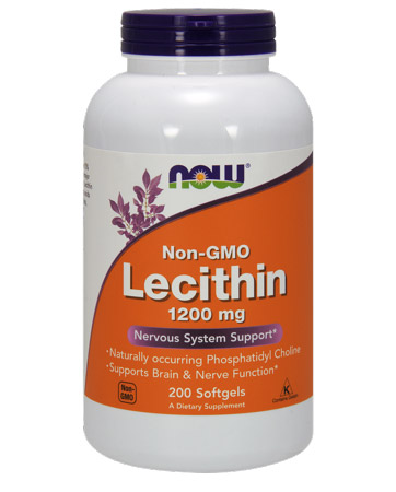 Lecithin 1200 mg NOW (200 Softgels)
