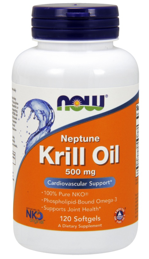 Krill Oil Neptune 500 mg NOW (120 кап)