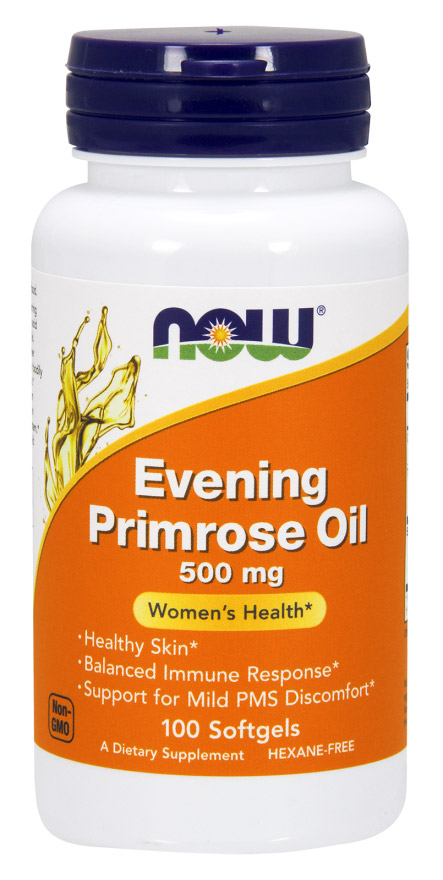 Evening Primrose Oil 500 mg NOW (100 Softgels)