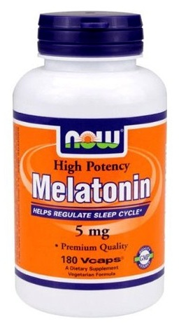 Melatonin 5 mg NOW (180 cap)