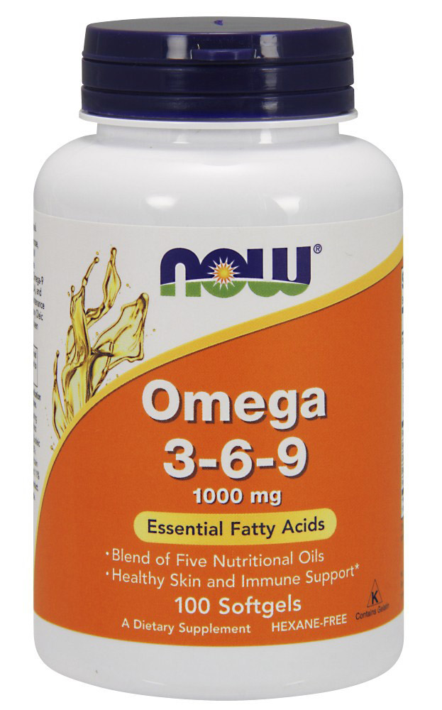 Omega 3-6-9 1000 mg NOW (100 гелевых капсул)