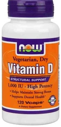 Vitamin D 1000 IU NOW (120 гелевых капсул)