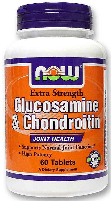 Glucosamine & Chondroitin Sulfate Extra Strength NOW (60 таб)