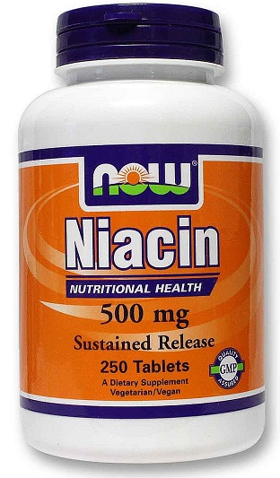 Niacin 500 mg NOW (250 таб)