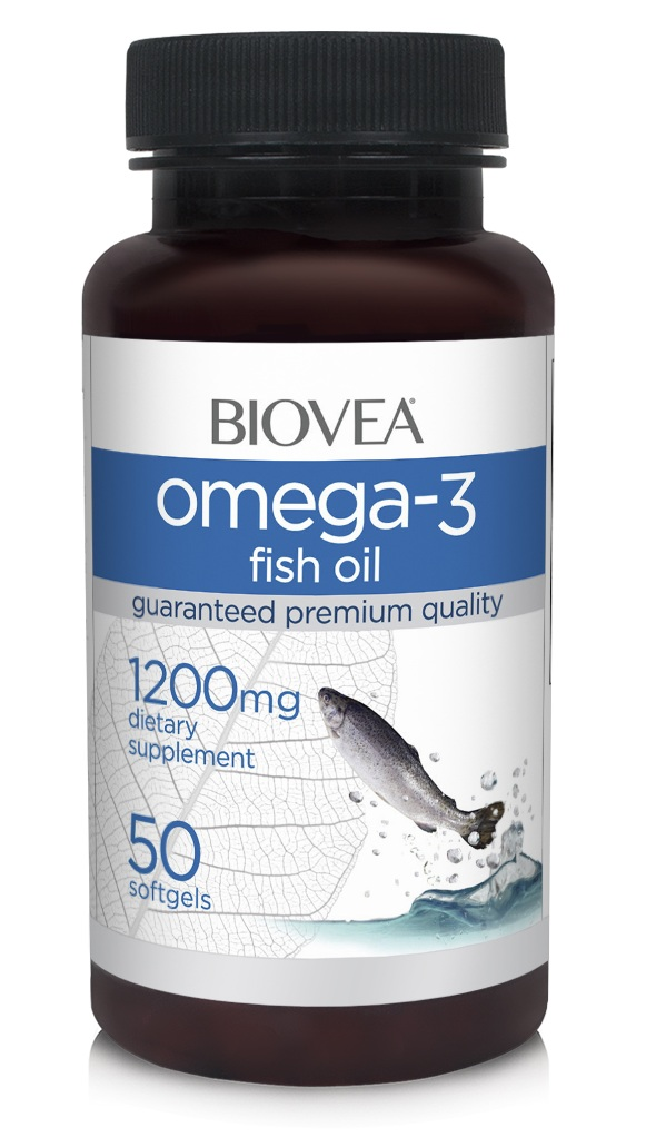 Omega 3 Fish Oil 1200 mg Biovea (50 кап)