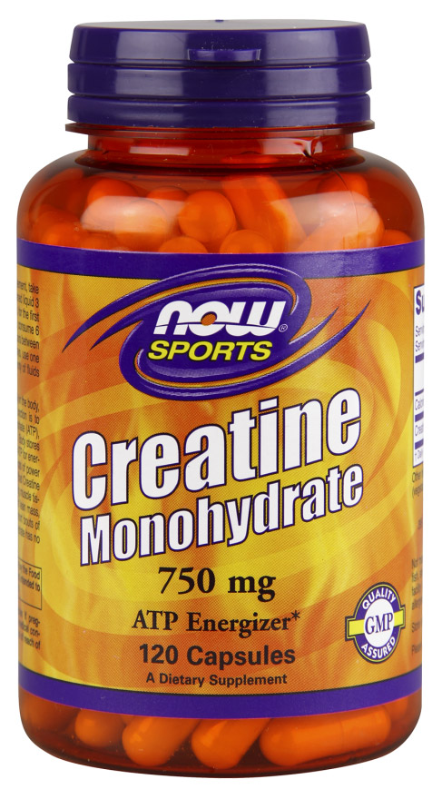 Creatine Monohydrate 750 mg NOW (120 кап)(годен до 11/2018)
