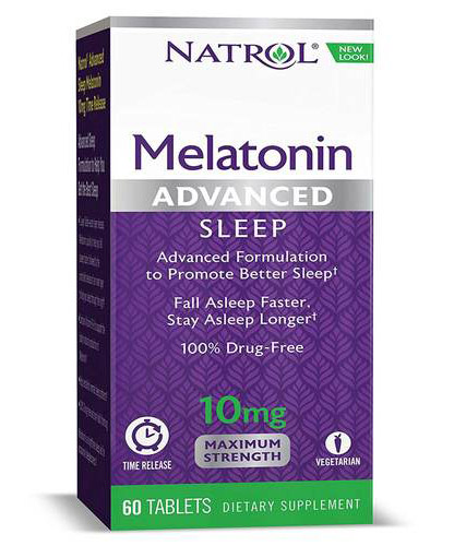Melatonin Advanced Sleep 10 mg MS Time Release Natrol (60 таб)