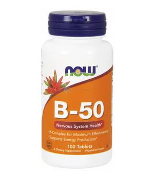 Vitamin B-50 Complex NOW (100 tab)