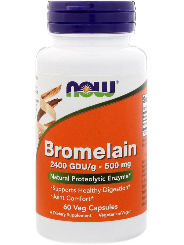 Bromelain 500 mg NOW (60 вег капсул)