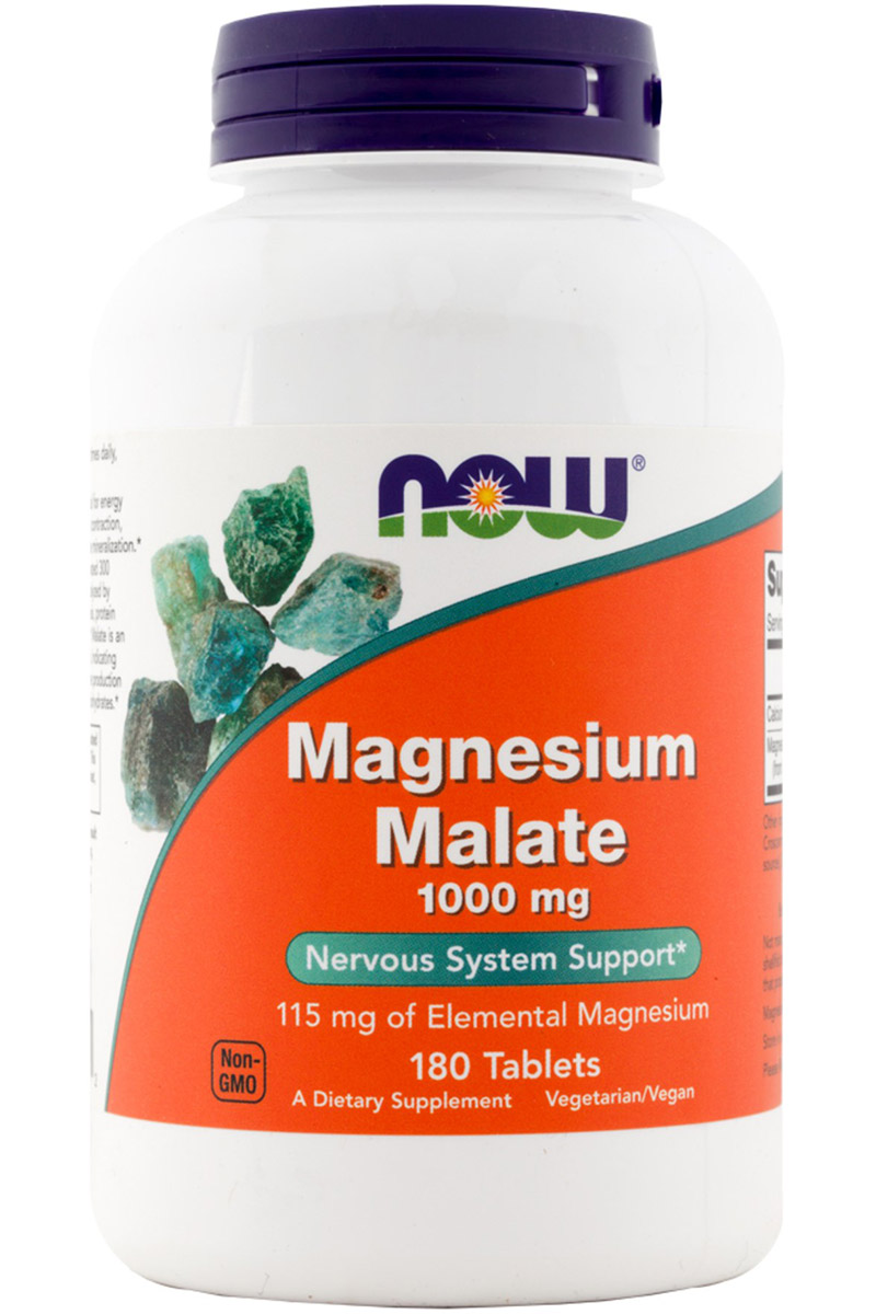 Magnesium Malate 1000 mg Vegetarian NOW (180 таб)