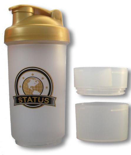 Шейкер STATUS + 2 отсека (600 мл)