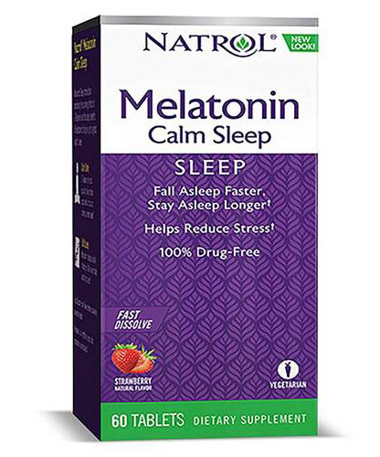 Melatonin Advanced Calm Sleep 6mg Fast Dissolve Natrol (60 таб)