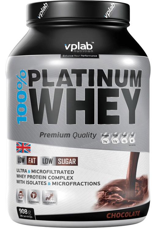 100% Platinum Whey VPLab Nutrition (908 гр)