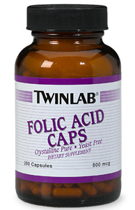 Folic Acid Caps Twinlab (200 cap)