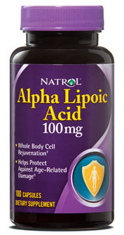 Alpha Lipoic Acid 100 mg Natrol (100 кап)