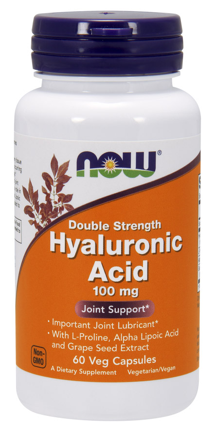 Hyaluronic Acid 100 mg NOW (60 вег капсул)