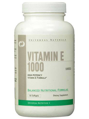 Vitamin E 1000 Universal Nutrition (50 гелевых капсул)
