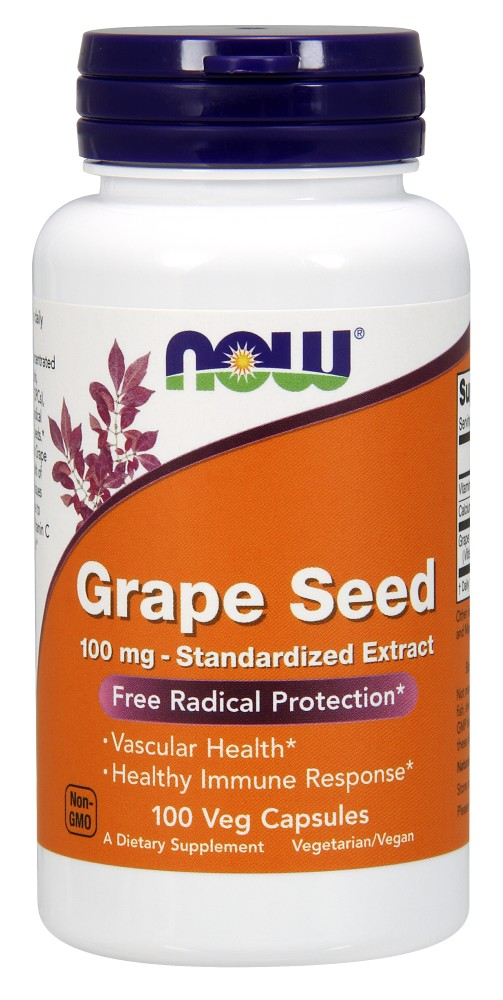 Grape Seed 100 mg NOW (100 Vcaps)